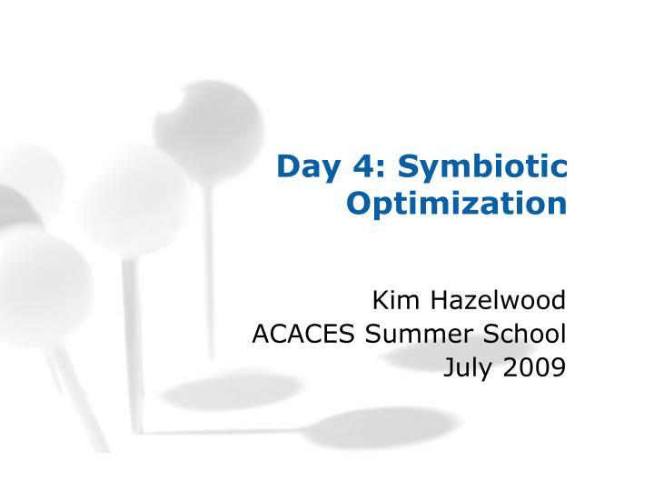 Day 4: Symbiotic Optimization