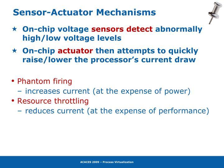 Sensor-Actuator Mechanisms