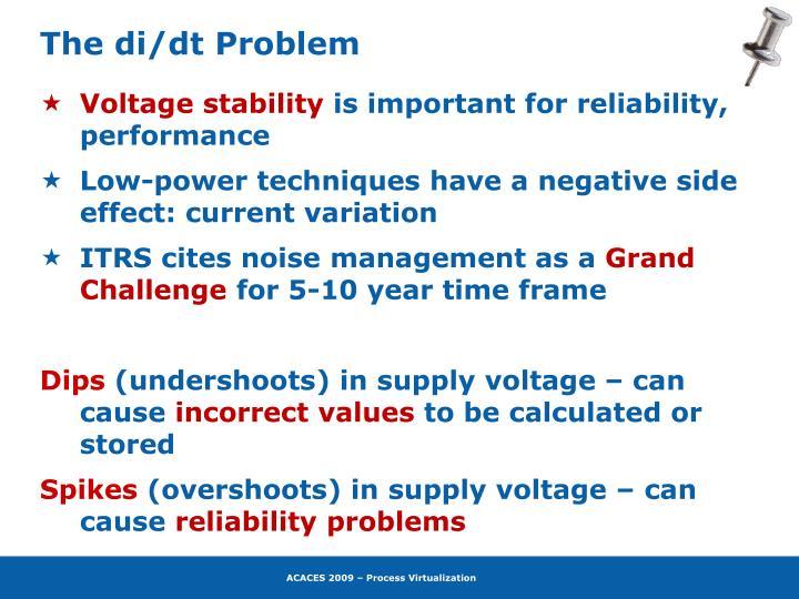 The di/dt Problem