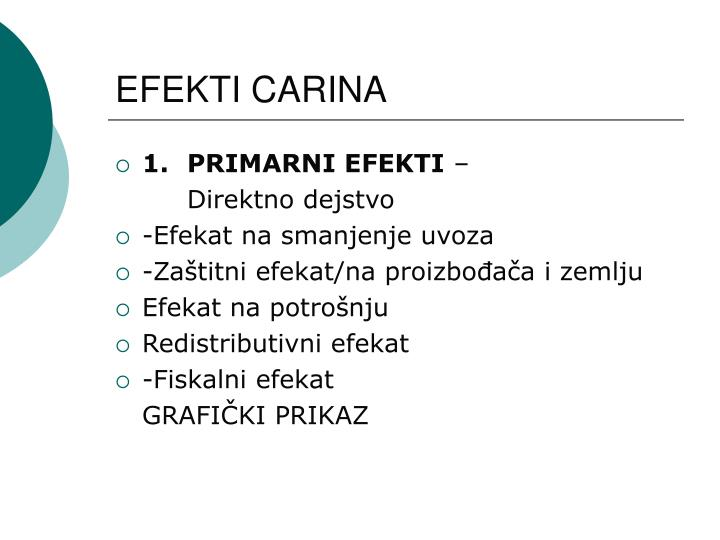 EFEKTI CARINA