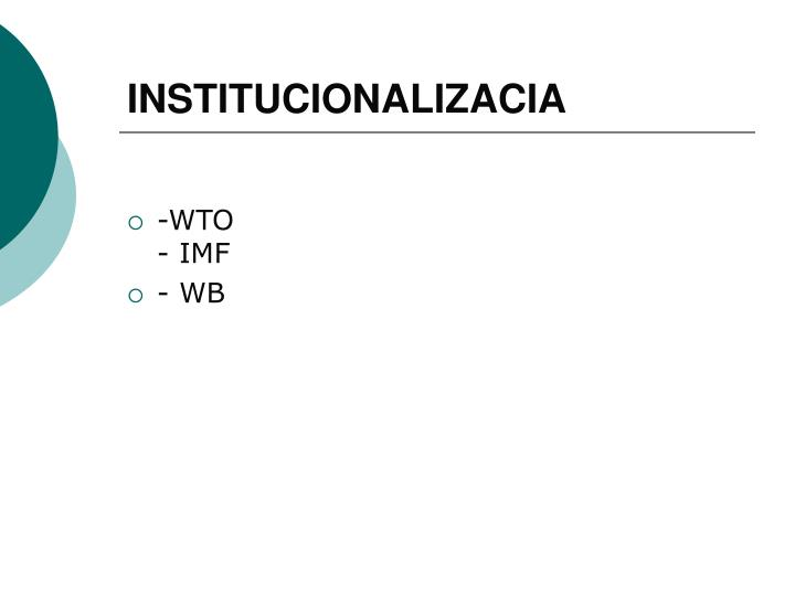 INSTITUCIONALIZACIA