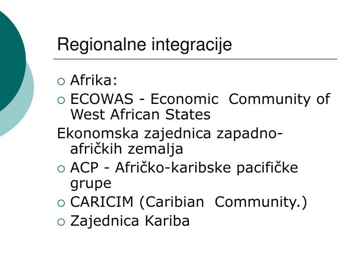 Regionalne integracije