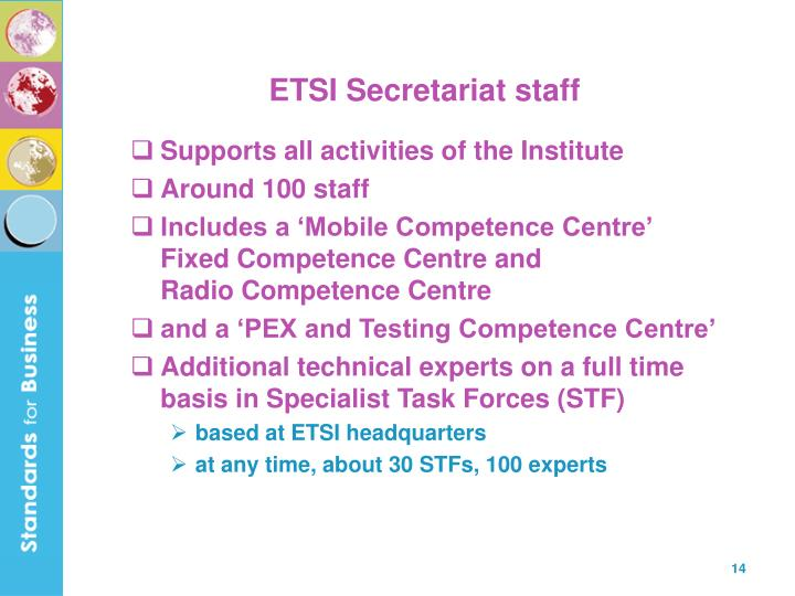 ETSI Secretariat staff