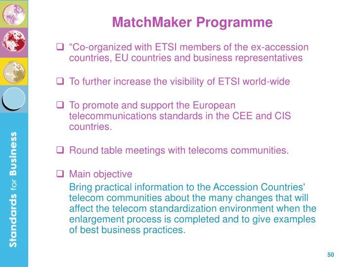 MatchMaker Programme