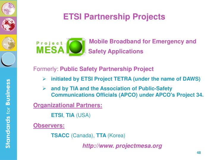 ETSI Partnership Projects