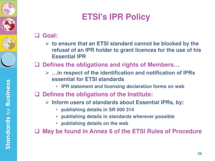 ETSI's IPR Policy