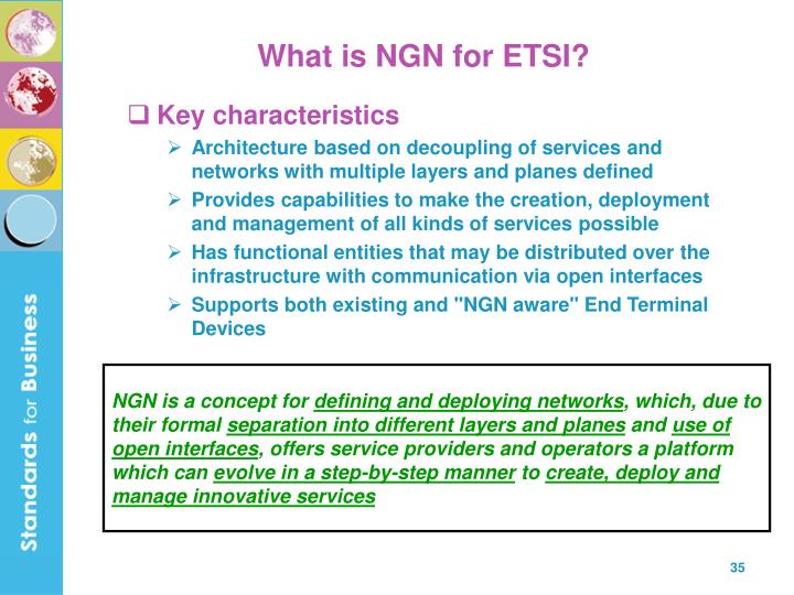 What is NGN for ETSI?
