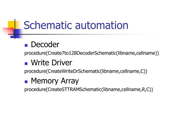 Schematic automation