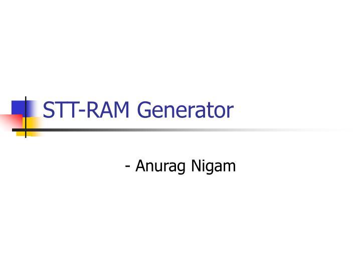 STT-RAM Generator