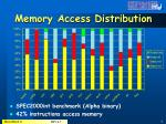 memory access distribution