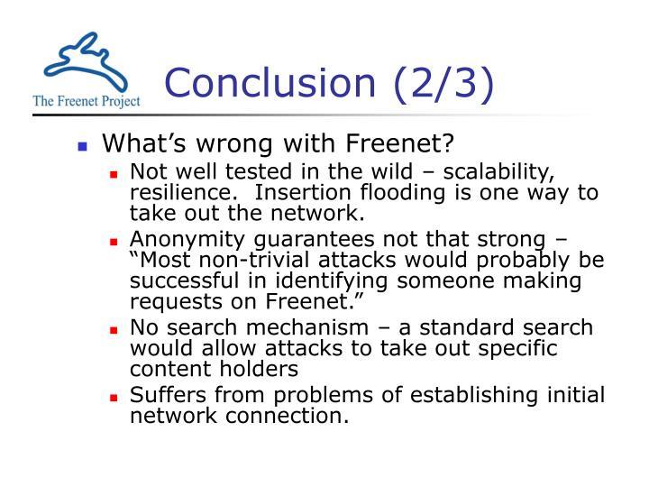 Conclusion (2/3)