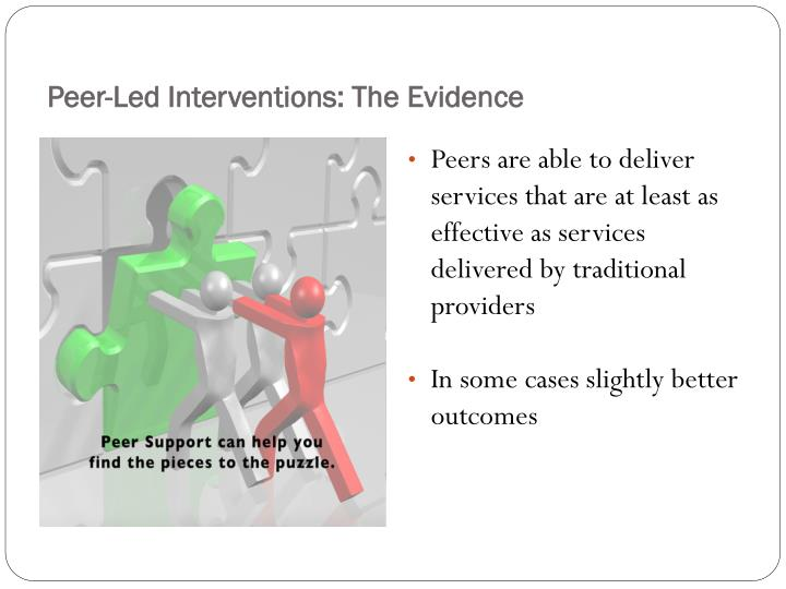 Peer-Led Interventions: The Evidence