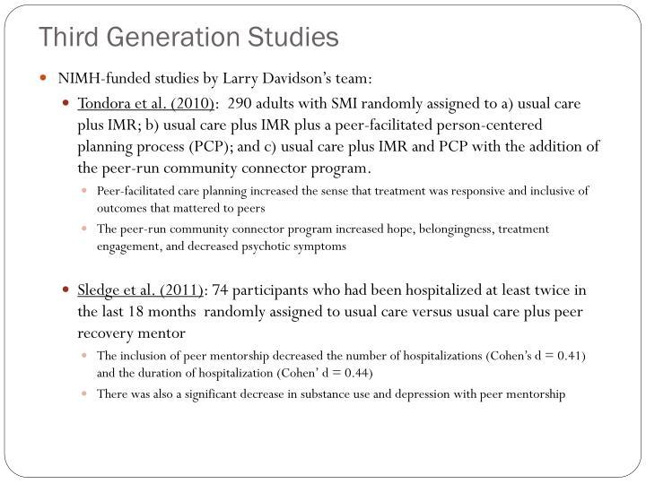 Third Generation Studies