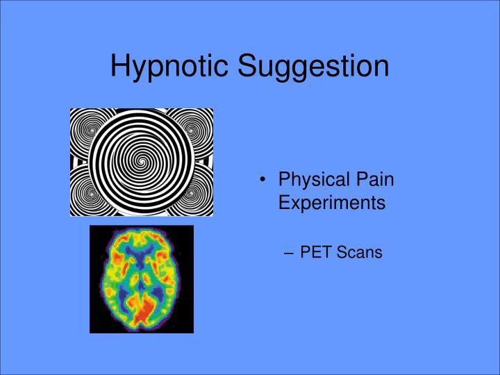 Hypnotic Suggestion