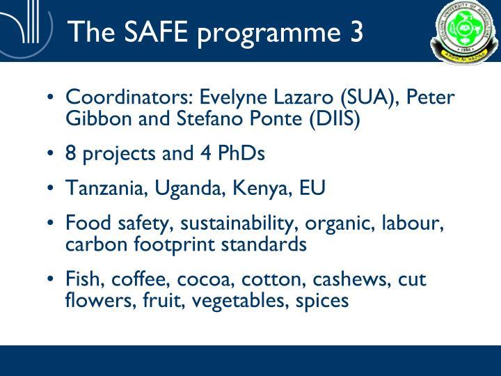 The SAFE programme 3