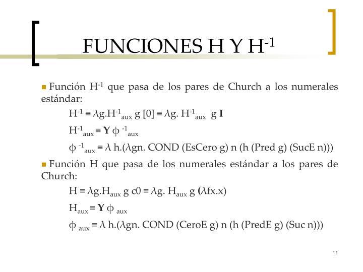 FUNCIONES H Y H