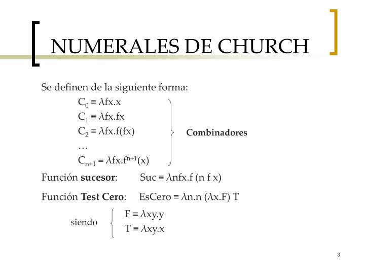 NUMERALES DE CHURCH