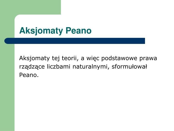 Aksjomaty Peano