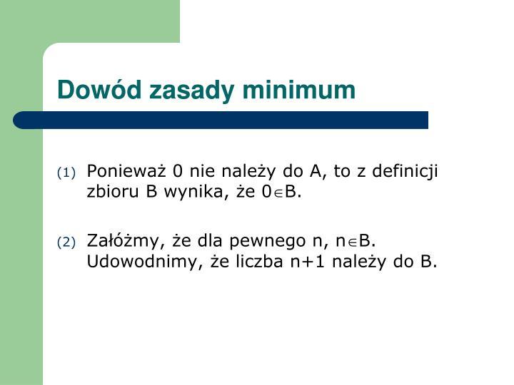 Dowód zasady minimum
