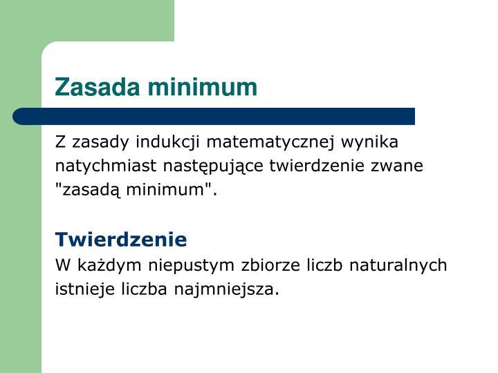 Zasada minimum