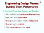 engineering design teams building team performance