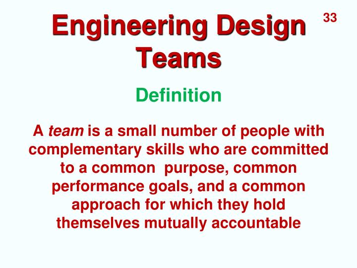 Engineering Design Teams