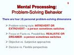 mental processing problem solving behavior