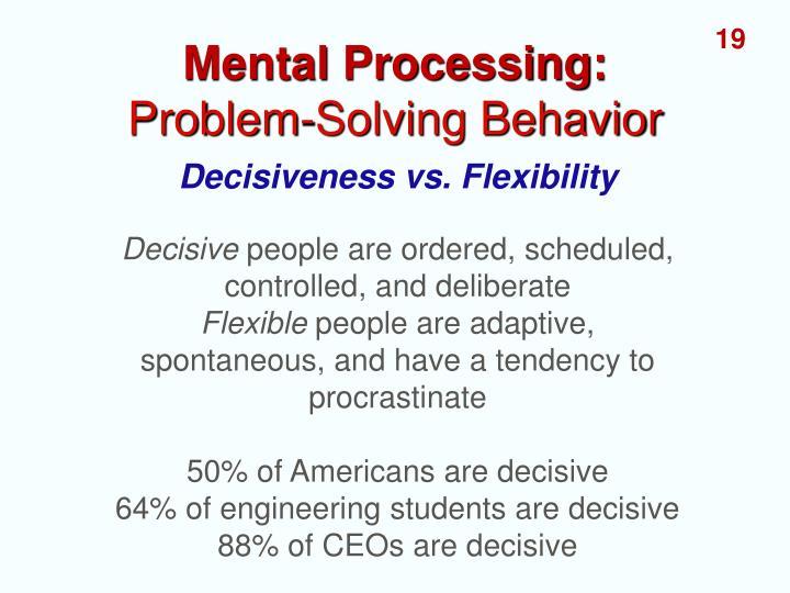 Mental Processing: