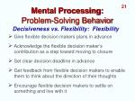 mental processing problem solving behavior12