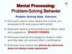 mental processing problem solving behavior2