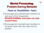 mental processing problem solving behavior5