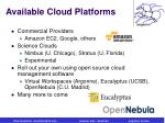 available cloud platforms