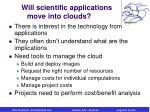 will scientific applications move into clouds