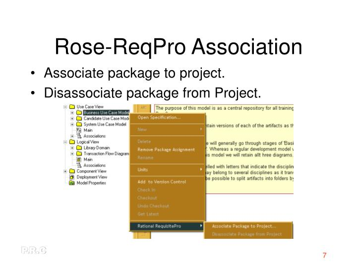 Rose-ReqPro Association