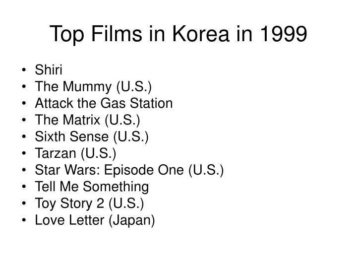 Top Films in Korea in 1999