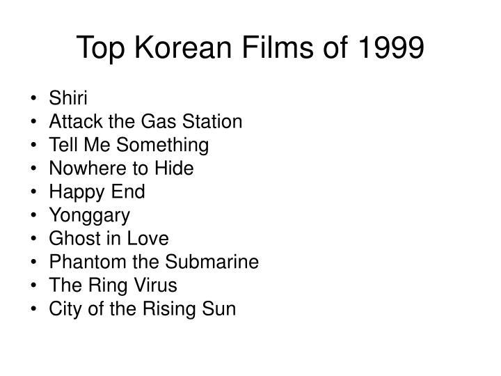 Top Korean Films of 1999