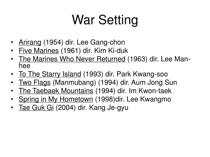 War Setting