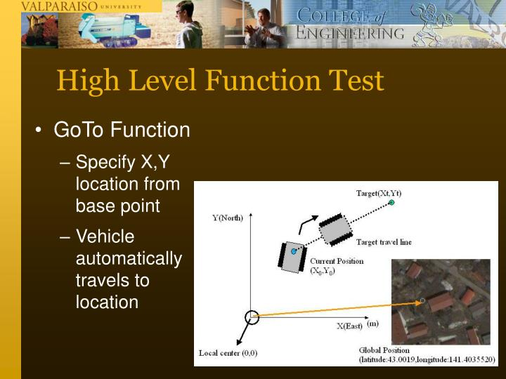 High Level Function Test