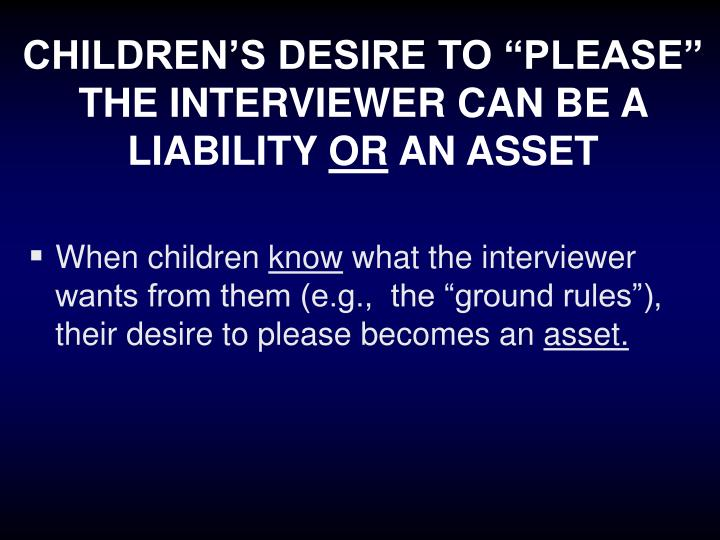 "CHILDREN'S DESIRE TO ""PLEASE"""