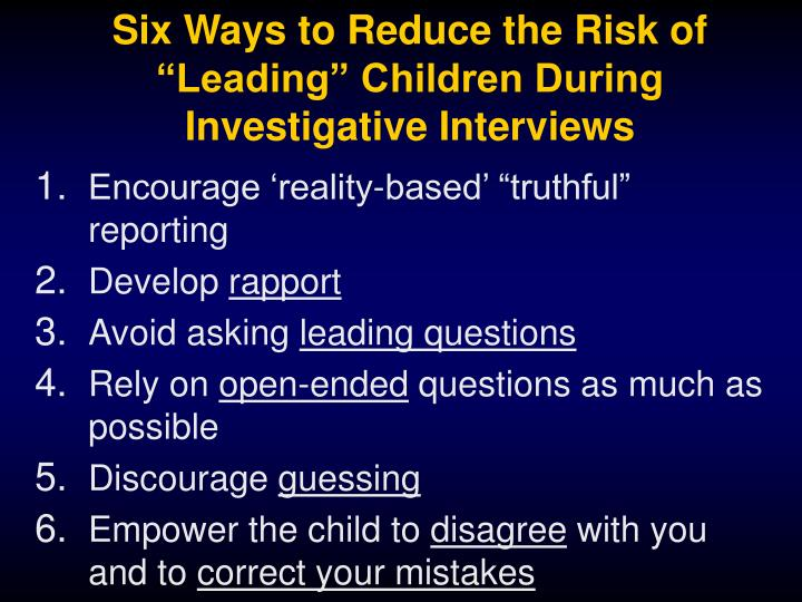 Six Ways to Reduce the Risk of