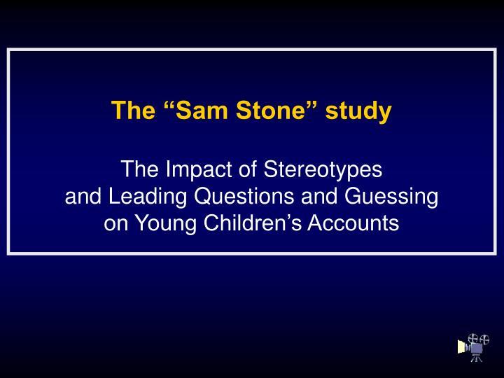 "The ""Sam Stone"" study"