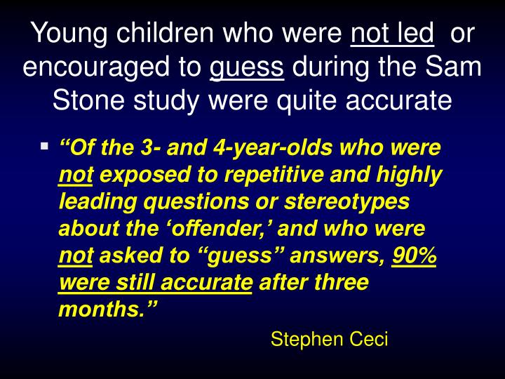 Young children who were