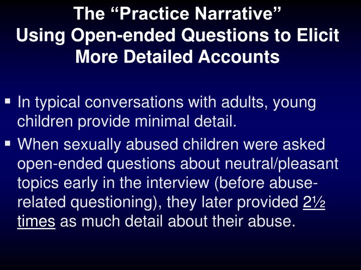 "The ""Practice Narrative"""