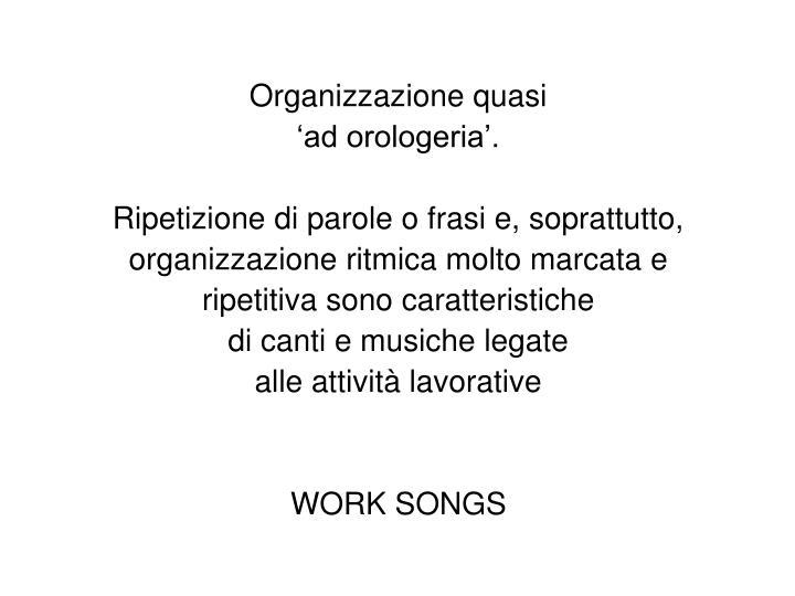 Organizzazione quasi