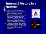internet2 history in a nutshell