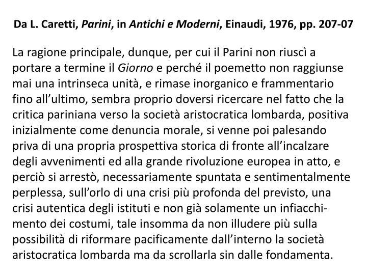 Da L. Caretti,