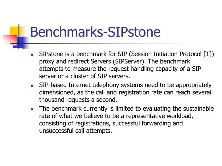 Benchmarks-SIPstone