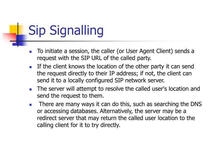 Sip Signalling