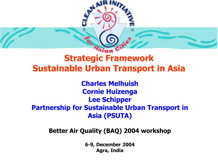 Strategic framework sustainable urban transport in asia