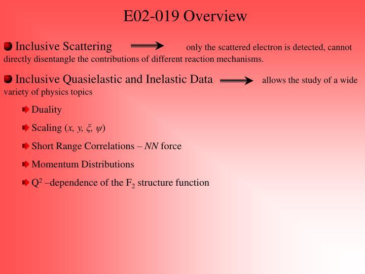 E02-019 Overview
